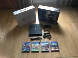 OPORTUNIDADE: PS4 Slim 500GB + 4 jogos + Mono headset