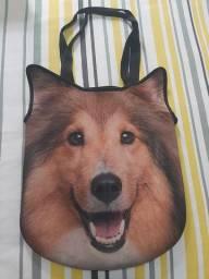 Bolsa com cara de cachorro