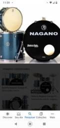 Título do anúncio: Bateria Nagano Garage Gig Shell Pack(só tambores)Ocean Sparkle/Nova/Imperdível!!
