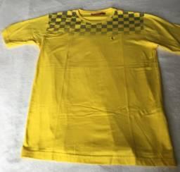 3e01606816 Camiseta Ferrari Amarela e Preta GL Usada