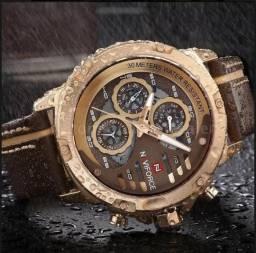 Relógio masculino Naviforce Luxo Original à Prova dágua (entrega grátis)