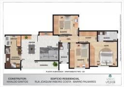 Apartamento à venda, 3 quartos, 1 suíte, 2 vagas, Palmares - Belo Horizonte/MG