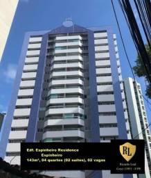 Alugo Apartamento no Espinheiro, 143m², 04 quartos (02 suítes)