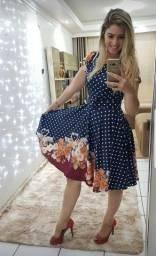 Vestido midi moda feminina
