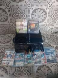 Playstation 3 original + 8 jogos  troco por celular também