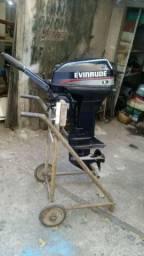 Motor 15hp Evinrude Com Partida Elétrica