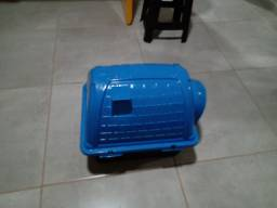 Oportunidade Casinha + coleira ajustável + pote comida e água Pet Cachorro Médio
