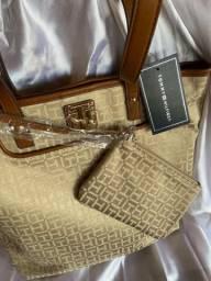 Bolsa Tommy Hilfiger com Carteira- Importada Original
