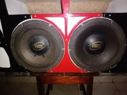 Projeto de som mas 2 alto falante de 12 polegada de 1.200 RMS cada