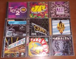 Lote 16 Cds Dance Music Tecno Anos 90 E 2000 Jovem Pan Etc