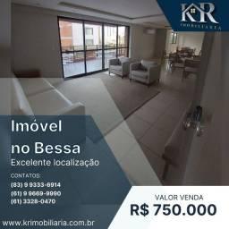 Apartamento com 2 dormitórios à venda, 101 m² por R$ 750.000,00 - Jardim Oceania - João Pe