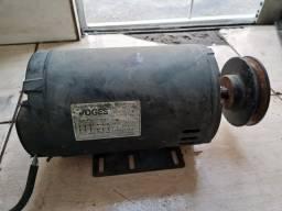 Motor Elétrico 5cv Trifásico 220v Alta Rotação 3450rpm (p/ compressor serra etc)