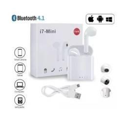 Fone Sem Fio Airbud I7S Bluetooth TWS 3-4 Horas de Música