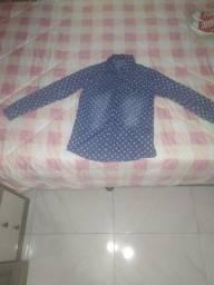 Blusa manga comprida jeans