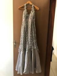 Título do anúncio: Vestidode festa - prata - rabo de sereia