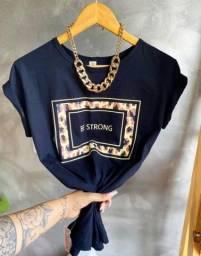 T-shirt/camisa feminina (100% algodão)