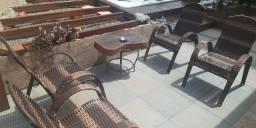 Cadeiras de fibra sintetica novas