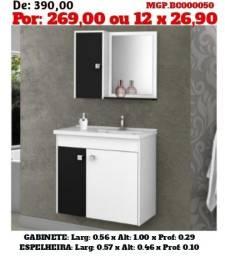 Conjunto de Banheiro e Gabinete-Kit de Banheiro e Gabinete Para Banheiro-Balcão