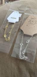 Pulseiras folheadas a Prata e Ouro