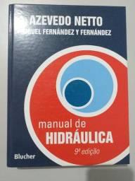 Manual de Hidráulica - Azevedo Netto - Livro em capa dura e em bom estado!