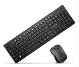 Teclado+mouse sem fio wireless novos