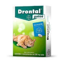Vermífugo Drontal p/ Gatos ? 4 Comprimidos