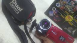 Filmadora HD + Cartão de memória
