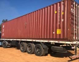 Carreta porta container