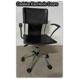 Lote com 7 Cadeiras Tok Stok Couro (Seminovas)