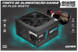 Fonte Gamer K-mex EU459 80plus White 500W C/ Cabo Alimentação