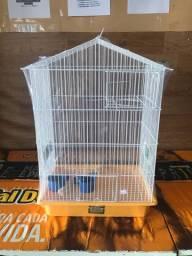 Gaiola para periquito com suporte de ninho