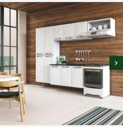 Cozinha Compacta em Aço Top Paraty com Balcão (PAP-AP3P NICHO Branco) - Colormaq