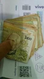 Cédulas de dinheiro original