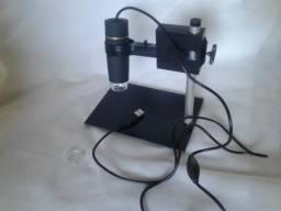 Microscópio digital usb 500x 1000x com suporte e lanterna Led