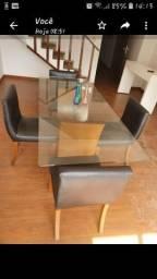 Troco Mesa de jantar 4 cadeiras lider interiores ou troco