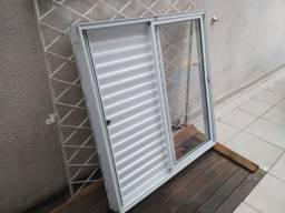 Janela De Correr Alumínio Veneziana 3 Folhas Branca Marca JPA brinde grade