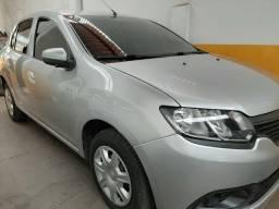 Renault/logan authentique 1.0 flex prata 2018. wn veículos - 2018