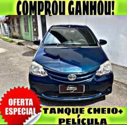 TANQUE CHEIO SO NA EMPORIUM CAR!!!! TOYOTA ETIOS 1.3 ANO 2015 COM MIL DE ENTRADA