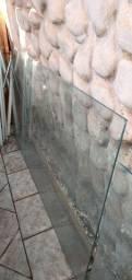 Vendo 1 porta vidro temperado,1 parede fixa de vidro temperado