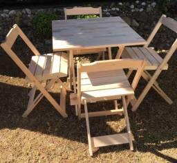 Conjuntos Dobráveis em madeira maciça - sem pintura