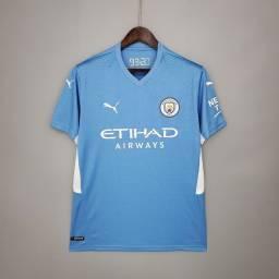 Título do anúncio: Camisa I Manchester City 2021 - camisas de time a pronta entrega
