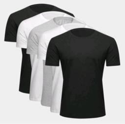 Kit com 5 camisas algodão P M G