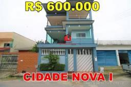 Título do anúncio: Casa Tríplex Cidade Nova 1, 5 Suítes, Gesso no Teto, Terraço Amplo