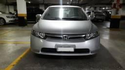 Honda Civic 1.8 LXS 16v flex 4p automatico Prata blindado unico dono