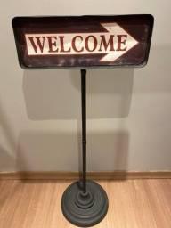 Placa bem vindo Welcome - Saída Exit