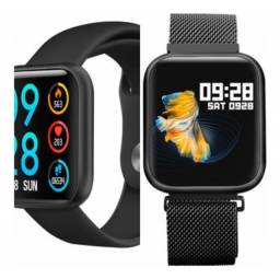 Relógio Smartwatch P80, mede pressão e batimento original coloca foto na tela Promoção