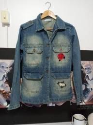 Título do anúncio: Jaqueta jeans com aplicação de flores