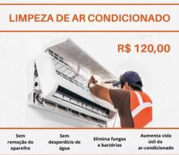 Título do anúncio: Limpeza, Higienização, reposição de Gás, Instalação de Ar condicionado.