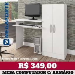 Título do anúncio: Mesa de Computador com Armário Embutido (2 Cores) Entrega Grátis
