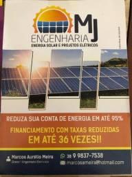 Energia Solar - Projeto, homologação e instalação